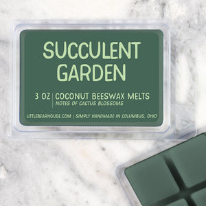 Succulent Garden Strong Scented Beeswax Wax Melts