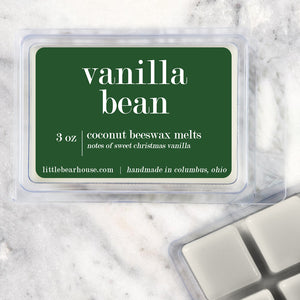 Vanilla Bean Strong Scented Beeswax Wax Melts