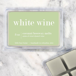 White Wine Strong Scented Beeswax Wax Melts
