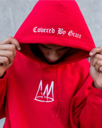 Load image into Gallery viewer, 'Thy Kingdom Come' - Red Pullover Hoodie