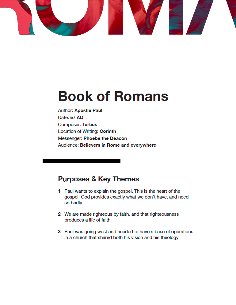 Book of Romans: Study Guide (Digital Download)