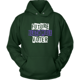 Future Black Male Voter Hoodie (Wh/Pu)