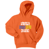 Future Black Male Voter Youth Hoodie (wh/pu/gr)