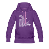My Son is a Future Black Male Voter Women's Hoodie - purple