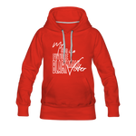 My Son is a Future Black Male Voter Women's Hoodie - red
