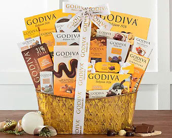 Godiva Collection Chocolate Gift Basket