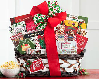 Holiday Greetings Gift Basket