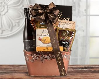 Thank You Gift Basket - Red Wine
