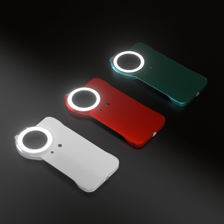 Round In-built iPhone LED case with 3 modes lighting attached for iPhone 12 Pro / iPhone 12
