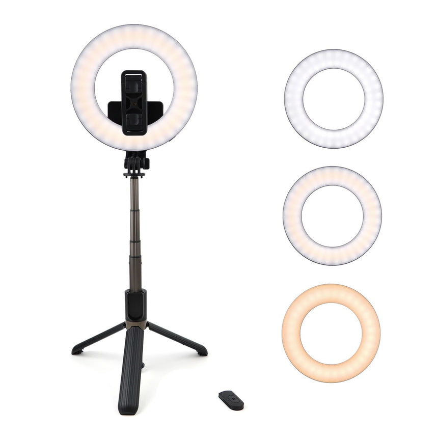 Portable Tripod Ring LED selfie stick with Bluetooth Remote
