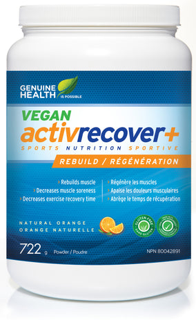 Activrecover+ Vegan - Rebuild and recover your muscle the healthy way - Genuine Health | hh Health