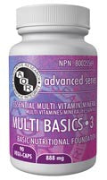 Multi Basics 3 - The multivitamin that contains all recognized vitamins & minerals - AOR | hh Health