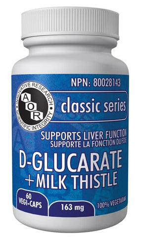 D-Glucarate + Milk Thistle - helps to support liver function - AOR | hh Health