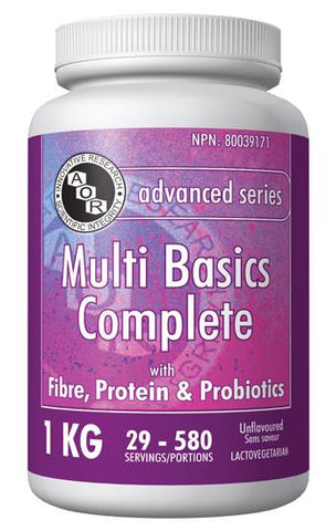 Multi Basics Complete - Most complete vitamin & mineral mixes with fibre and protein - AOR | hh Health