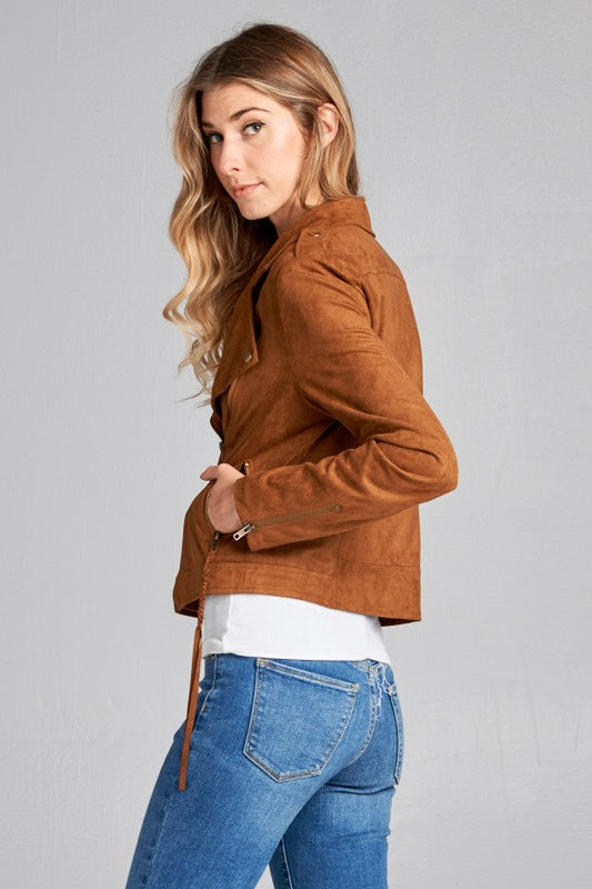 The Ellie Suede Moto Jacket