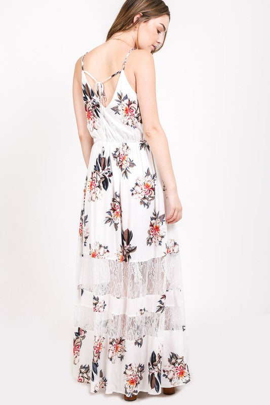 The Fae Floral Maxi Dress - Beau&Arrow