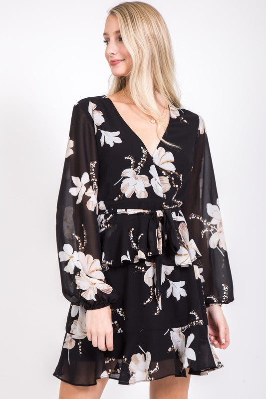 Midnight Floral Dress - Beau&Arrow