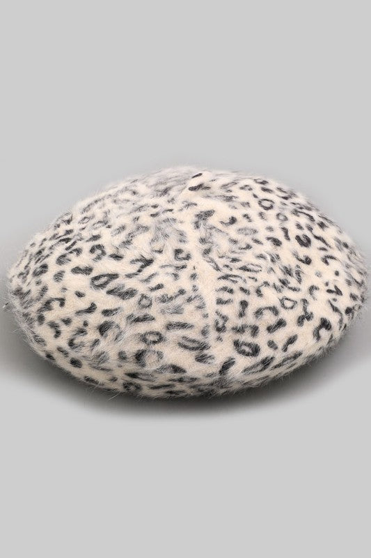 Leopard Print Soft Beret - Beau&Arrow