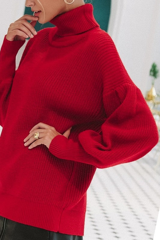 The Astrid Red Sweater - Beau&Arrow