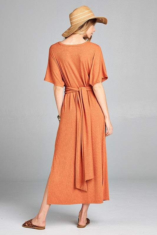 The Ramsey Rust Maxi Dress