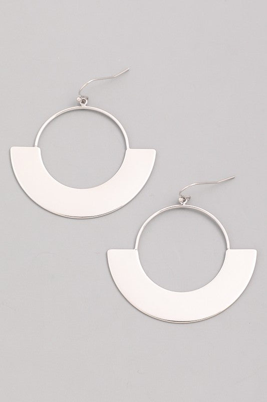 Flat Eclipse Hoop Earrings - Beau&Arrow