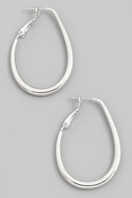 Metallic Hoop Latch Earrings - Beau&Arrow