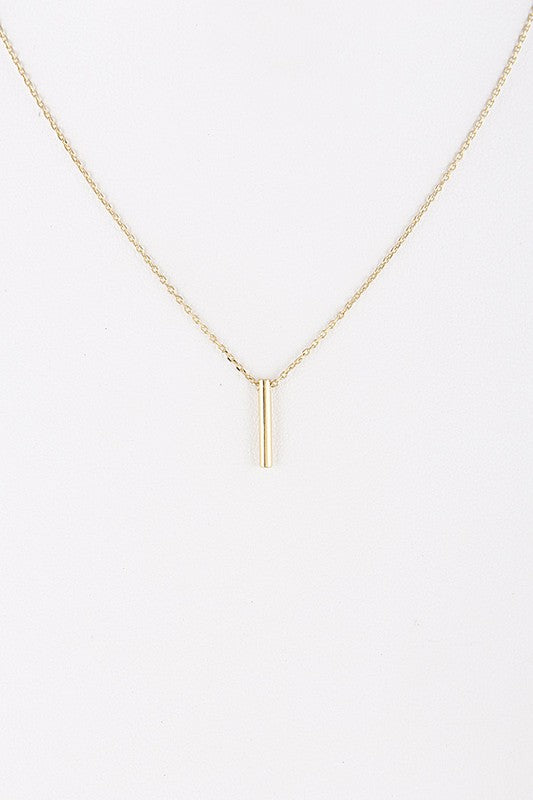 Simple Bar Necklace - Beau&Arrow