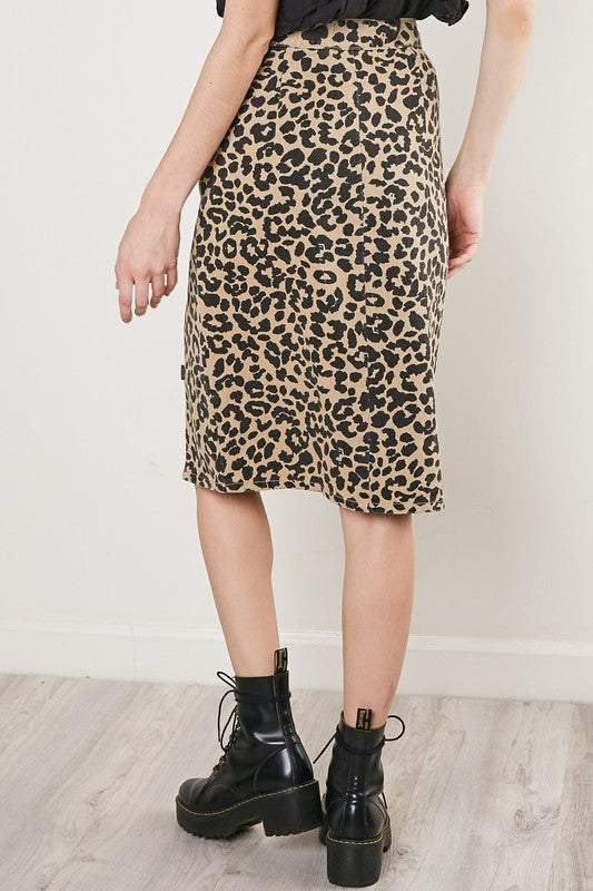 The Sadie Leopard Pencil Skirt