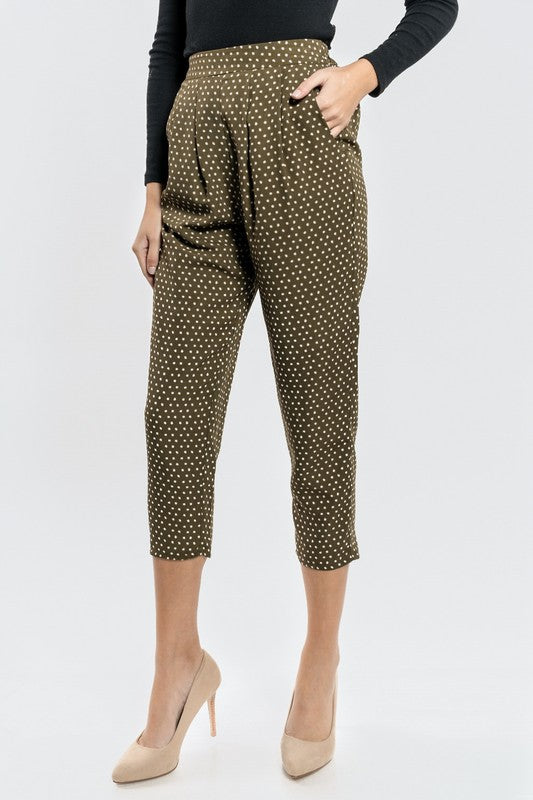 Polka Dot Pants with Pockets - Beau&Arrow