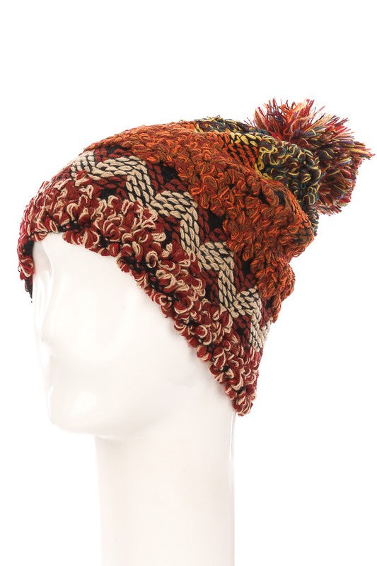 Boho Crochet Knit Pom Beanie - Beau&Arrow
