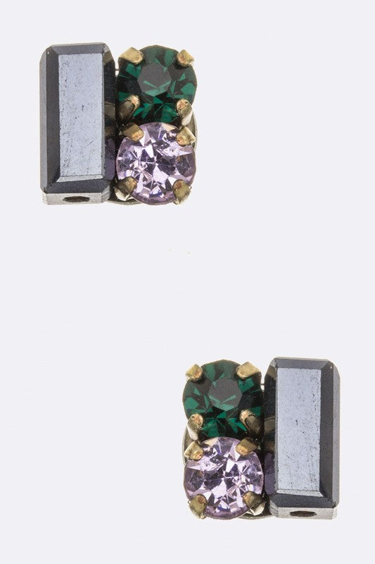 Mix Crystal Studs - Beau&Arrow