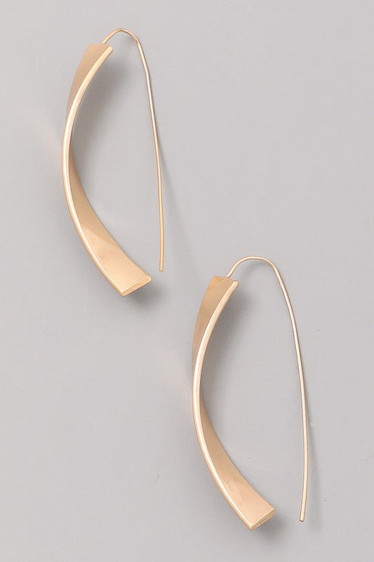 Curve Bar Hook Earring - Beau&Arrow