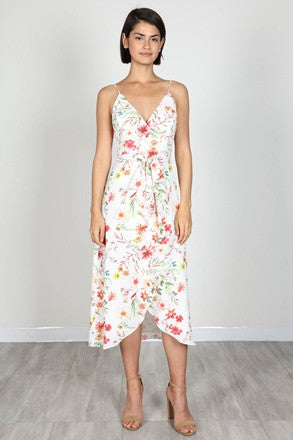 Floral Tulip Midi Dress - Beau&Arrow