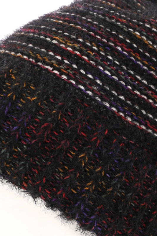 Fuzzy Crochet Knit Winter Beanie - Beau&Arrow