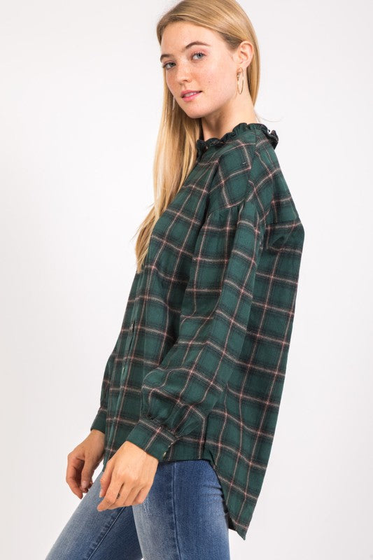Jane Plaid Shirt - Beau&Arrow
