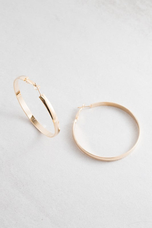 Own the Night Hoop Earrings - Beau&Arrow