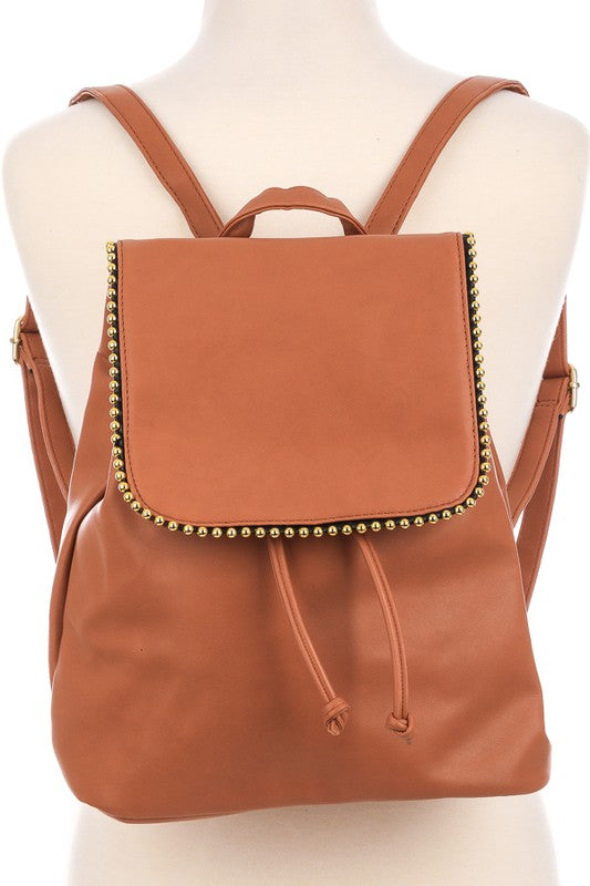 Sleek Drawstring Flap Backpack - Beau&Arrow