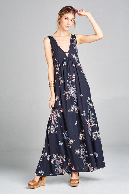The Julie Navy Maxi - Beau&Arrow