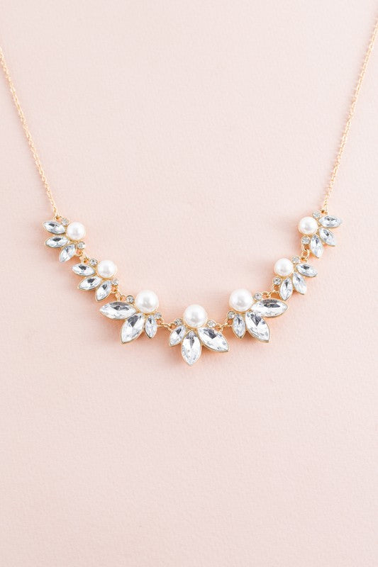Lucca Pearl Stone Necklace - Beau&Arrow