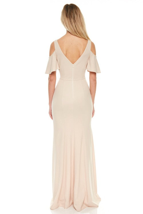 The Pauline Pearl Trim Maxi Dress