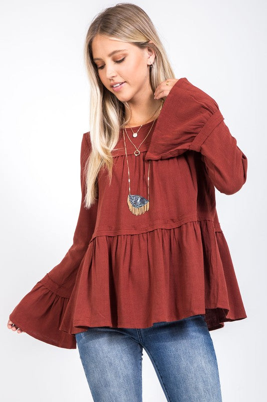 Brick Bell Top - Beau&Arrow