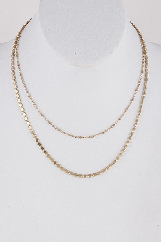 Layered Dainty Chain Necklace - Beau&Arrow