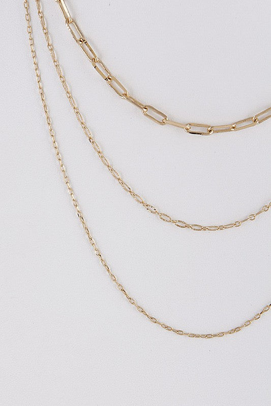 Three Layered Chain Necklace