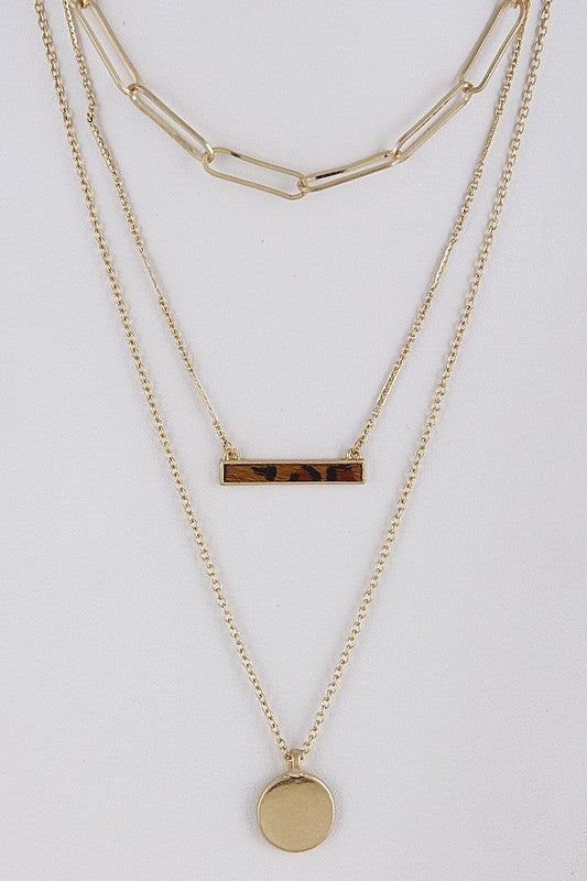 Animal Print Layered Necklace - Beau&Arrow