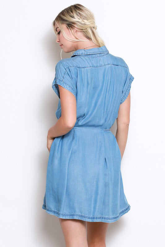 The Deanna Tencel Denim Dress - Beau&Arrow