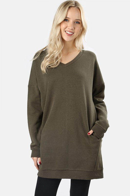The Sonya Oversized Sweatshirt Dress