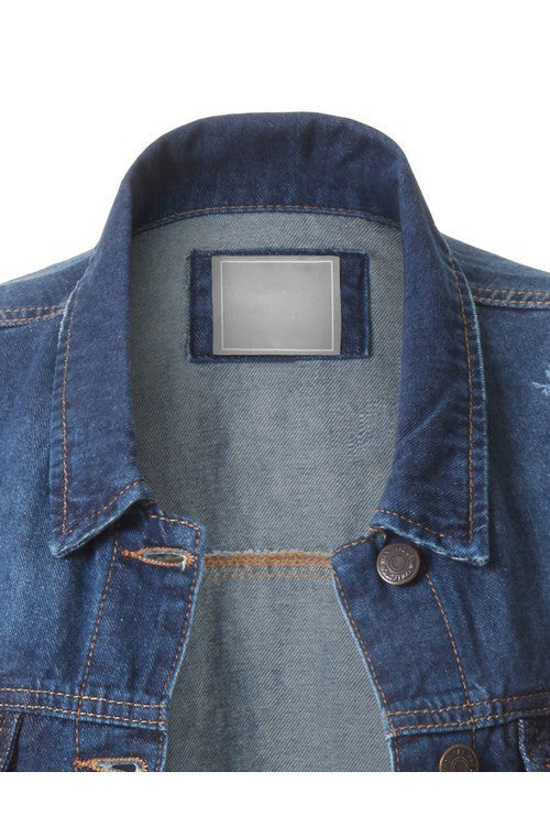 The Lisa Denim Jacket (Curvy Style) - Beau&Arrow