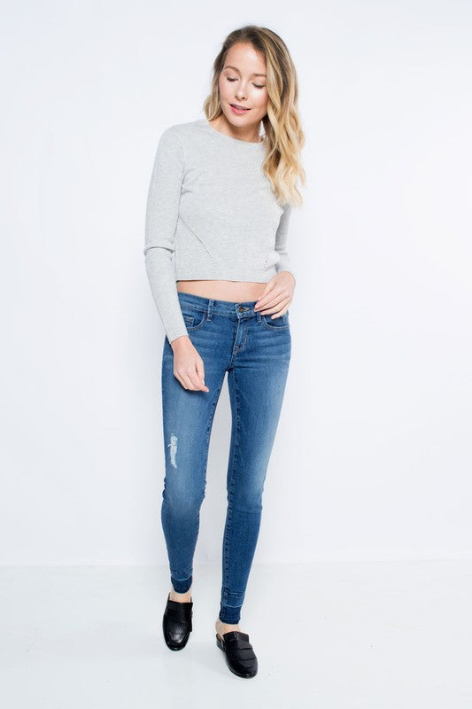 Low Rise Skinny Jeans - Beau&Arrow