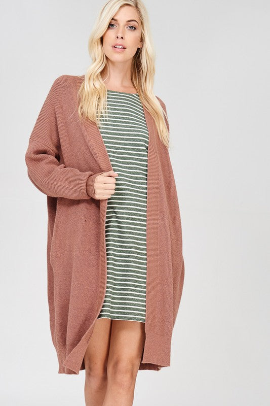 The Molly Mauve Long Cardigan