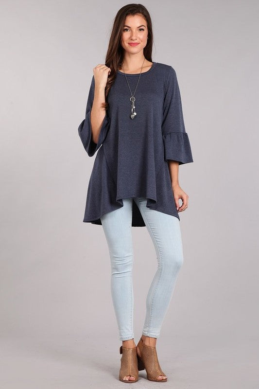 French Terry Sleeve Tunic - Beau&Arrow